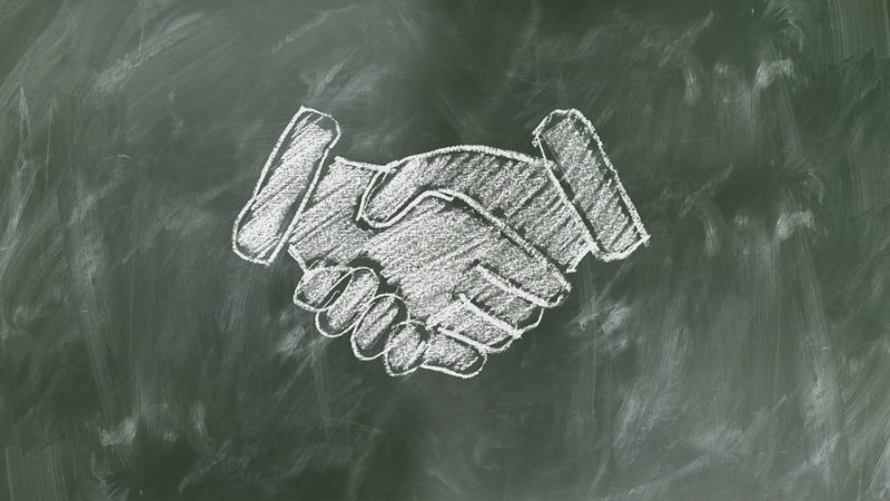 handshake drawing | Lift Legal